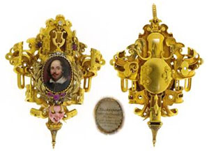 Shakespeare Masterpiece Renaissance Revival Pendant