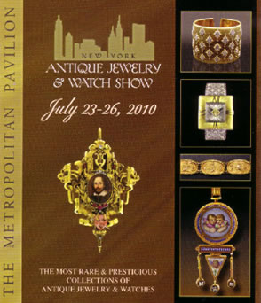 New York Antique Jewelry Show featuring Joden Jewelry on teh cover