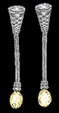 Platinum earrings with briolette diamonds